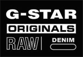 gstar originals raw denim trademark of tm25 holding bv