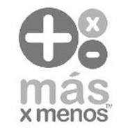 MÁS X MENOS