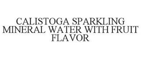 CALISTOGA SPARKLING MINERAL WATER WITH FRUIT FLAVOR