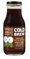 WIDE AWAKE COFFEE CO COLD BREW UNSWEETENED COFFEE DRINK MOCHA NATURAL FLAVOR WITH OTHER NATURAL FLAVOR 9.5 FL OZ (281 ML)