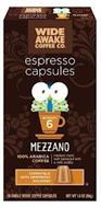 WIDE AWAKE COFFEE CO ESPRESSO CAPSULES MEZZANO INTENSITY 6 WIDE AWAKE COFFEE CO ESPRESSO CAPSULES INTENSITY 6 MEZZANO MEDIUM ROAST, WELL BALANCED WITH A MILD ACIDITY