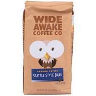 WIDE AWAKE COFFEE CO GROUND COFFEE SEATTLE STYLE DARK VERY BOLD