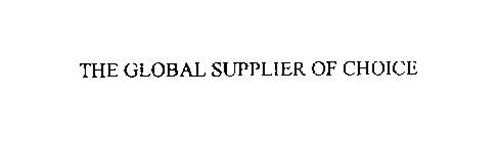 THE GLOBAL SUPPLIER OF CHOICE