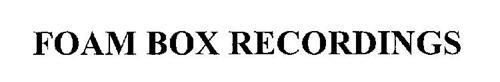 FOAM BOX RECORDINGS