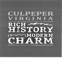 CULPEPER VIRGINIA RICH HISTORY MODERN CHARM