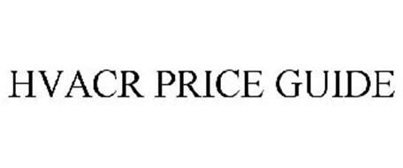 HVACR PRICE GUIDE