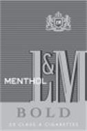L&M BOLD MENTHOL 20 CLASS A CIGARETTES L&M