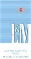 L&M ULTRA LIGHTS 100'S FILTER L&M 20 CLASS A CIGARETTES