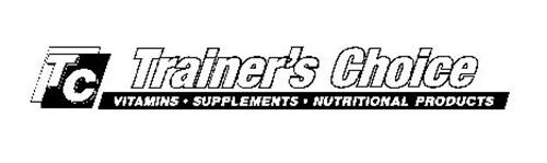 TC TRAINER'S CHOICE VITAMINS · SUPPLEMENTS · NUTRITIONAL PRODUCTS