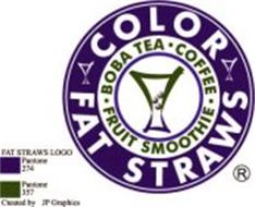 COLOR FAT STRAWS BOBA TEA · COFFEE · FRUIT SMOOTHIE