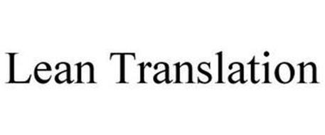 LEAN TRANSLATION