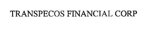 TRANSPECOS FINANCIAL CORP