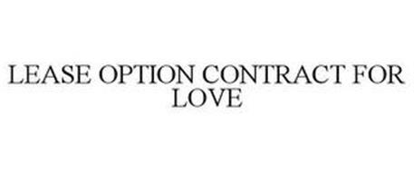 LEASE OPTION CONTRACT FOR LOVE
