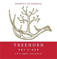 PRODUCT OF GEORGIA TREEHORN DRY CIDER 12 FL. OZ (355ML) | 5.9% ALC BY VOL.