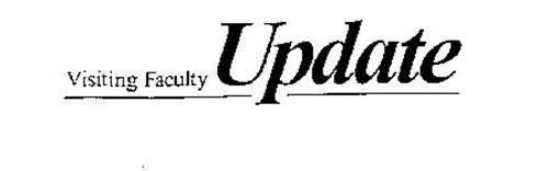 VISITING FACULTY UPDATE