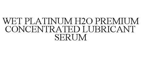 WET PLATINUM H2O PREMIUM CONCENTRATED LUBRICANT SERUM