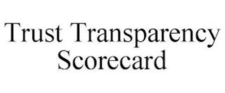TRUST TRANSPARENCY SCORECARD