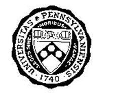 UNIVERSITAS PENNSYLVANIENSIS 1740 LEGESSINE MORIBUS VANAE