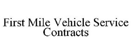 FIRST MILE VEHICLE SERVICE CONTRACTS