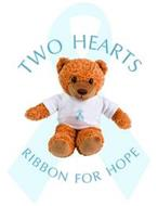 TWO HEARTS RIBBON FOR HOPE