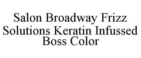SALON BROADWAY FRIZZ SOLUTIONS KERATIN INFUSED BOSS COLOR