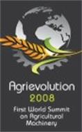 AGRIEVOLUTION 2008 FIRST WORLD SUMMIT ON AGRICULTURAL MACHINERY