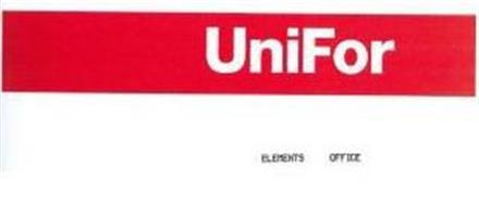 Unifor elements office trademark of unifor s p a serial for Unifor spa
