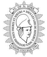 ST: OF N: YORK SOUS LES LOIS DE MINERVE NOUS DEVENONS TOUS FRERES ET SOEURS UNION COLLEGE 1795