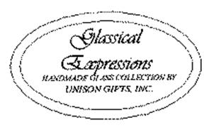 GLASSICAL EXPRESSIONS HANDMADE GLASS COLLECTION BY UNISON GIFTS, INC.