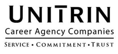 UNITRIN CAREER AGENCY COMPANIES SERVICE · COMMITMENT · TRUST