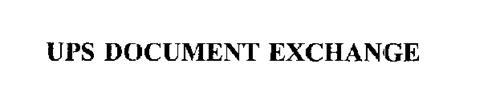 UPS DOCUMENT EXCHANGE
