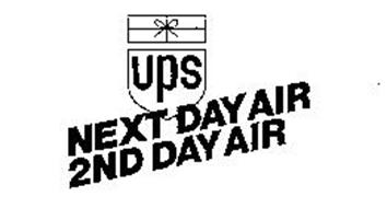 UPS NEXT DAY AIR 2ND DAY AIR Trademark of United Parcel