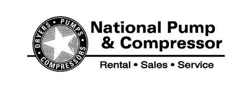 NATIONAL PUMP & COMPRESSOR DRYERS · PUMPS · COMPRESSORS · RENTAL · SALES · SERVICE