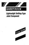 SHEETROCK LIGHTWEIGHT SETTING-TYPE JOINT COMPOUND EASY SAND