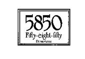 5850 PROMOTIONS FIFTY-EIGHT-FIFTY