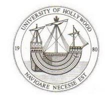 UNIVERSITY OF HOLLYWOOD 1980 NAVIGARE NECESSE EST