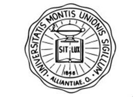 UNIVERSITATIS MONTIS UNIONIS SIGILLUM ALLIANTIAE, O. SIT LUX 1846