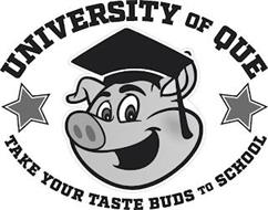 UNIVERSITY OF QUE TAKE YOUR TASTE BUDS TO SCHOOL