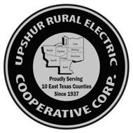 UPSHUR RURAL ELECTRIC COOPERATIVE CORP.PROUDLY SERVING 10 EAST TEXAS COUNTIES SINCE 1937 WOOD SMITH CAMP UPSHUR GREGG RUSK MORRIS CASS MARION HARRISON