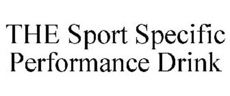 THE SPORT SPECIFIC PERFORMANCE DRINK