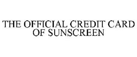 THE OFFICIAL CREDIT CARD OF SUNSCREEN