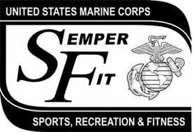 UNITED STATES MARINE CORPS SEMPER FIT SEMPER FIDELIS SPORTS, RECREATION & FITNESS