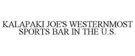 KALAPAKI JOE'S WESTERNMOST SPORTS BAR IN THE U.S.