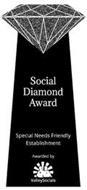 SOCIAL DIAMOND AWARD SPECIAL NEEDS FRIENDLY ESTABLISHMENT AWARDED BY VALLEYSOCIALS
