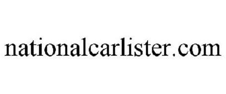 NATIONALCARLISTER.COM