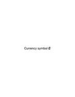 CURRENCY SYMBOL ¢