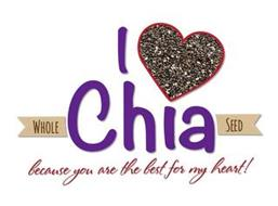 I WHOLE CHIA SEED BECAUSE YOU ARE THE BEST FOR MY HEART!