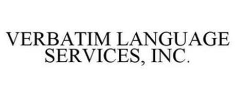 VERBATIM LANGUAGE SERVICES, INC.