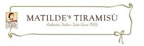PASTICCERIA MATILDE VICENZI MATILDE'S TIRAMISÙ AUTHENTIC ITALIAN TASTE SINCE 1905