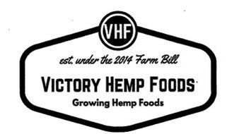 VHF EST. UNDER THE 2014 FARM BILL VICTORY HEMP FOODS GROWING HEMP FOODS